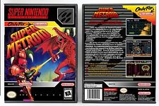 Super Metroid - Super Nintendo SNES Custom Case *NO GAME*