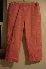 Duck Head Pink & Gold Ducks 12 Capris Cotton Blend Capri Crop Cropped Pants