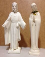 Vintage Hummel set of 2 Religious Figurines Mary and Jesus with damage