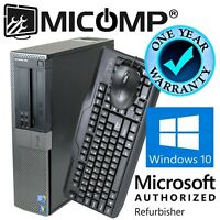 Dell Desktop Computer PC 8GB 500GB HDD DVD Quad Core i5 (3.1Ghz) Windows 10 WiFi
