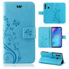 Huawei P30 Lite Handy Tasche Handyhülle Wallet Schutz Hülle Blumen Cover Etui