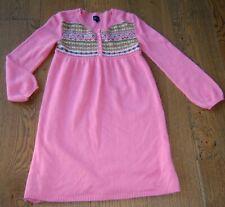 MINI BODEN GIRLS PINK COTTON / ANGORA BLEND KNIT DRESS SZ 11 - 12