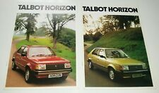 2 x Talbot Horizon UK Car Sales Brochures 1980 & 1981