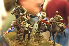 Resin Model Poland Cavalry Four Peoples Four Horses 1:35 Model Free Shipping