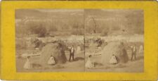 Travaux agricoles France Stereo Vintage Albumine ca 1865