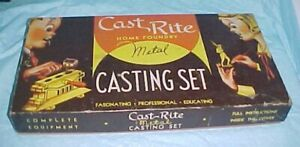 """EMPTY BOX HOME FOUNDRY CAST RITE LEAD TOY SOLDIER MOLD KIT 1950 - 64 10.25 X 19"""""""