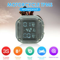 LCD USB-Aufladung TPMS Motorrad Reifendruck Überwachung System+2externe Sensoren