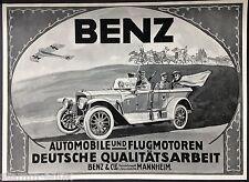 Benz,Automobile,Autos,Pkw u.Flugmotoren,Benz & Cie,Mannheim,orig.Anzeige 1915