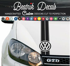 VW Golf Bonnet Stripe Decal Sticker Vinyl Volkswagen Graphic Logo Black And More