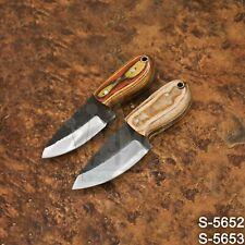 5652   Wazirabad's Pair of High Carbon Steel Skinner/Hunter/Neck knife W/Sheath