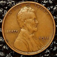 1911-D Lincoln Cent ~ VERY FINE (VF) Condition ~ $20 ORDERS SHIP FREE!