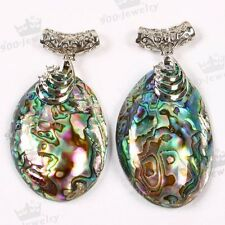 1pc Mother Of Pearl Abalone Shell Bead Pendant For Charm Necklace Women Jewelry
