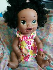 Baby Alive Super Snackin Sara African American English / Spanish Soft Face 2014