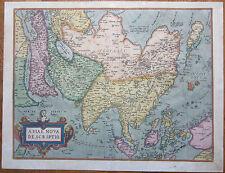 ORTELIUS: Large Original Map of Asia Asiae Nova Descriptio - 1580