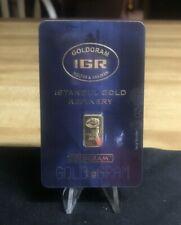 IGR 1 Gram .9999 Pure Gold Bar in Assay