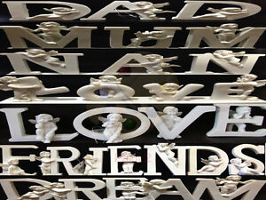 Mum Nan Dad Friend Dream Love Cherub Letters Angel Memorial Ornament Grave Gift