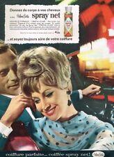 J - Publicité Advertising 1963 Laque cheveux Spray Net Helene Curtis