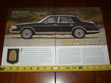 1986 LINCOLN CONTINENTAL GIVENCHY - ORIGINAL 2014 ARTICLE
