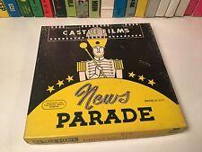 "News Parade: Movies Greatest Headlines Regular 8mm Film Castle #829 5"" Reel"