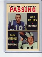 Johnny Unitas/Norm Van Brocklin '60 NFL Passing Leaders rare MC Glory Days #1