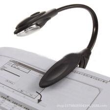 Flexible Portable Travel Book Reading Light Lamp Mini LED Clip-on Booklight