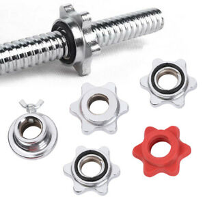 Weight Spin Lock Screw Barbell Bar Clips Check Nut Dumbbell Spinlock Collars-