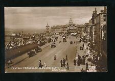 Lancashire MORECAMBE Promenade good busy scene c1900s RP PPC