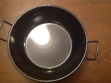 Enamel Wok/Karai/Double Handles Pan Heavy Duty New