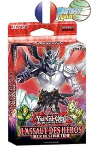 Yu-Gi-Oh!  Deck Structure  l'Assaut des Heros  45 Cartes Francais VF Neuf scellé