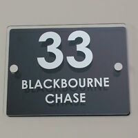 Personalised Modern Stylish House Number Street Name Sign Plate Plaque Aluminium