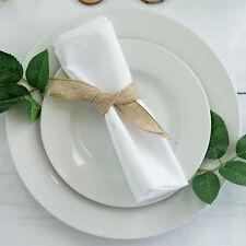 "25 pcs White Polyester 17x17"" Table Napkins Wedding Party Kitchen Linens Sale"