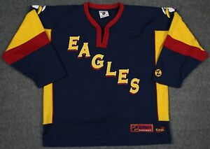 Colorado Eagles CHL Zephyr Authentic Sewn Jersey With Fight Strap Size 52