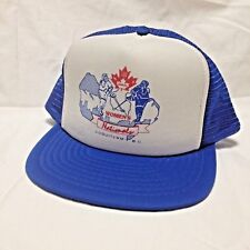 Canadian Women's Nationals Hockey Trucker Hat SnapBack Foam Mesh 1989 Coquitlam