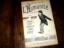 L'Humanité chansonnette monologue partition piano chant 1900 Edouard Jouve