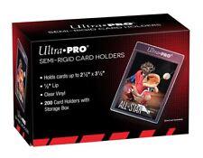 (200) Ultra-Pro Semi Rigid Trading Card Holders - Semi Flexible Full Box