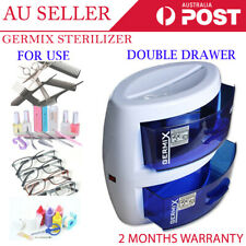Disinfection Double Cabinet Drawer Clean Beauty Salon Spa UV Tool Sterilizer
