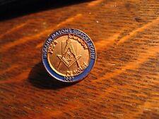 Masonic Lodge Lapel Pin - Vintage 1997 Indiana USA Masons Youth Demolay Hat Pin