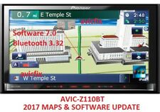2017 PIONEER AVIC-Z110BT 2017 MAPS UPDATE + SOFTWARE 7.0 // BLUETOOTH 3.32
