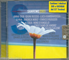 Sanremo 2003/2 (2003) CD NUOVO Cristiano De Andrè, Un giorno dopo. Lisa, Oceano