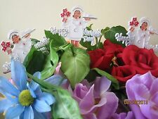 Floral Picks HAPPY NURSES DAY Cheerful Nurse with Flowers and Tray Pk/6!