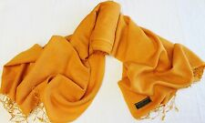 P78 NWT Burnt Orange Pashmina Silk Shawl/ Wrap Hand Woven In Nepal