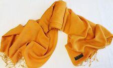 P78 NWT Burnt Orange Pashmina Silk Shawl/ Wrap Hand Woven In Nepal