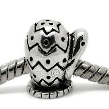 Winter Mitten Glove European Bead For European Charm Bracelets - Holiday Gift