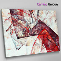 AB1301 Red White modern design Abstract Wall Art Picture Large Canvas Print