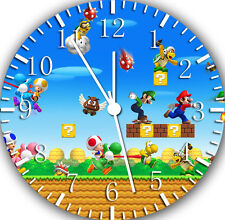 "Super Mario Bros wall Clock 10"" will be nice Gift and Room wall Decor W425"