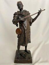 """Antique Bronze Statue by Emile Louis PICAULT """"Fait a Tunis"""