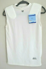 New Vapor Protek M Warrior Padded Shirt Sleeveless Sport Football Lacrosse White
