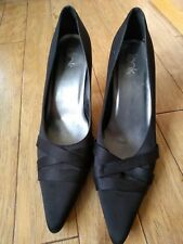 Ladies Black  Look Heels/Shoes Size 7 Practically New