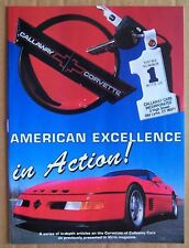 MAGAZINE ~ CALLAWAY CORVETTES ~ AMERICAN EXCELLENCE IN ACTION