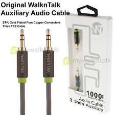 Gold Plated 3.5mm Male Jack to Jack Aux Cable Audio Auxiliary Lead PC Car
